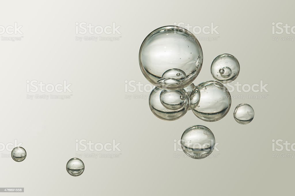 Air bubbles stock photo