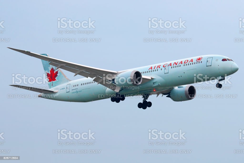 Air Canada aircraft stock photo