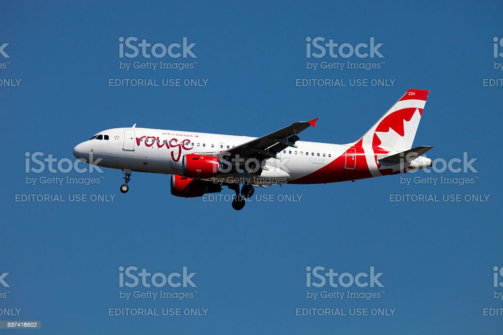 Air Canada Airline (Airbus A319) stock photo