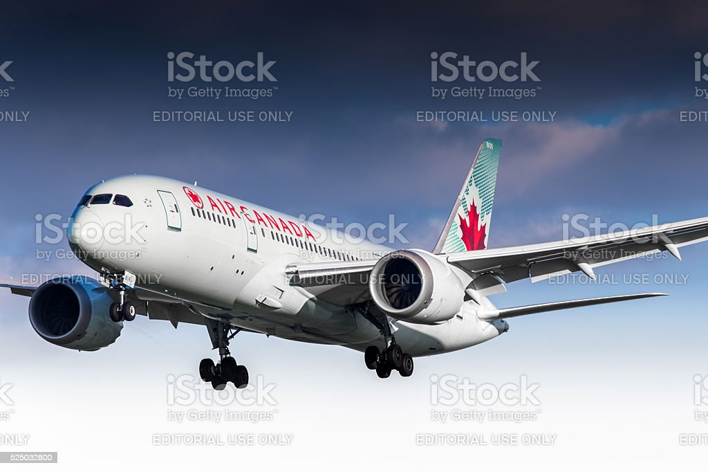 Air Canada Boeing 787 Dreamliner stock photo