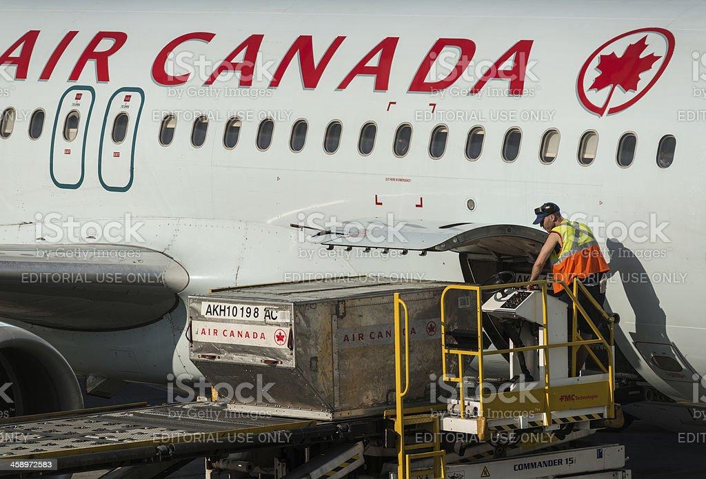 Air Canada Flight royalty-free stock photo