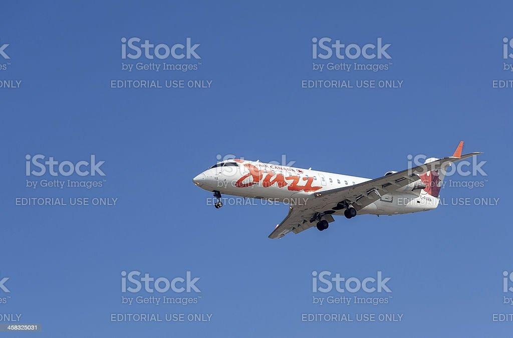 Air Canada Jazz aircraft royalty-free stock photo