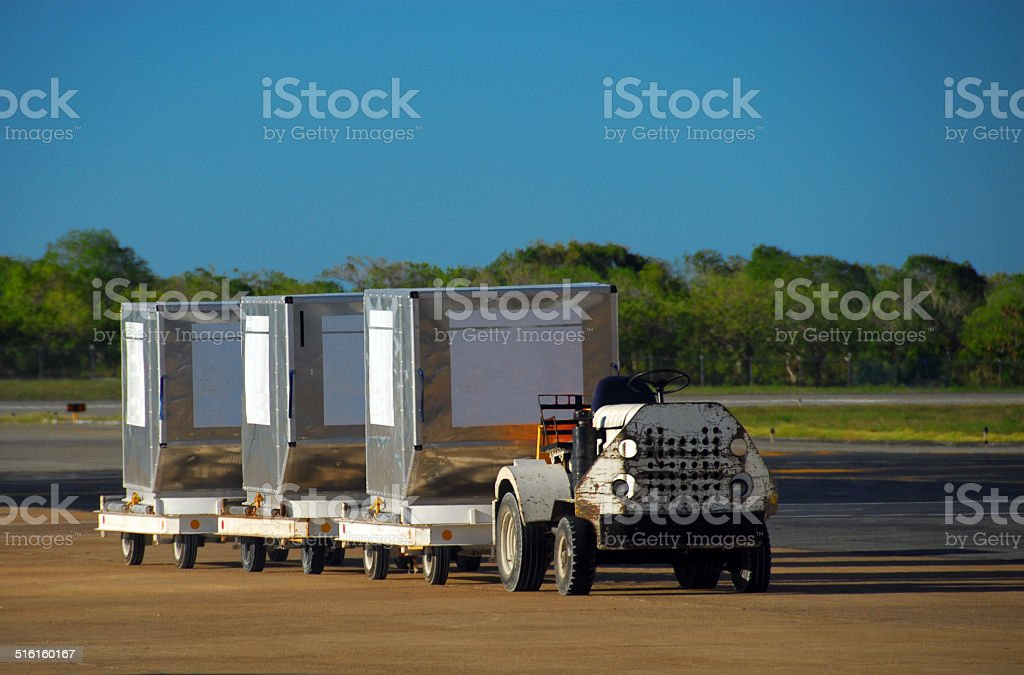 Air cargo - unit load devices stock photo