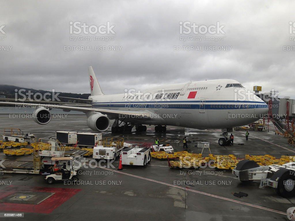 Air China 747 Aircraft stock photo