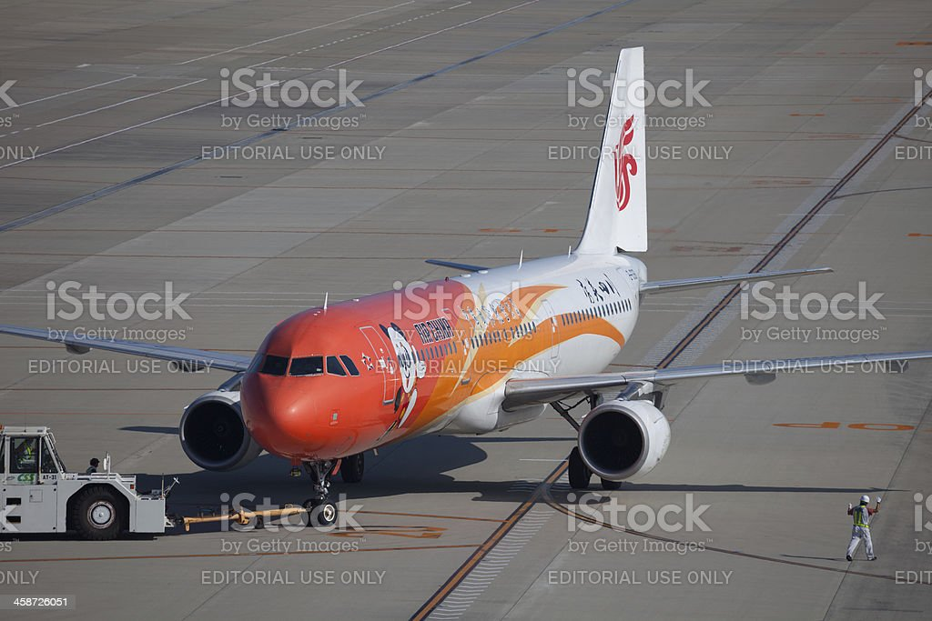 Air China Airbus A321 in Japan stock photo