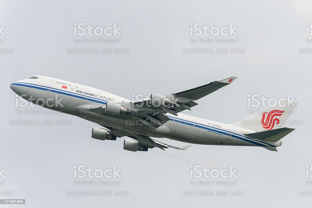 Air China Boeing 747 royalty-free stock photo