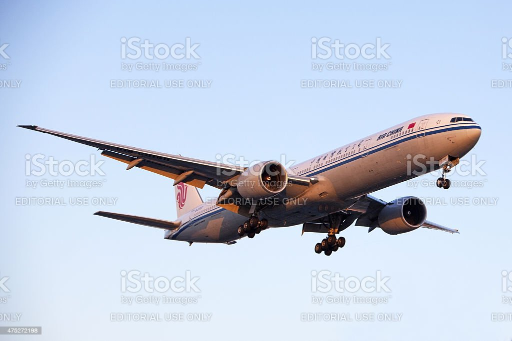 Air China Boeing 777 Commercial Plane stock photo