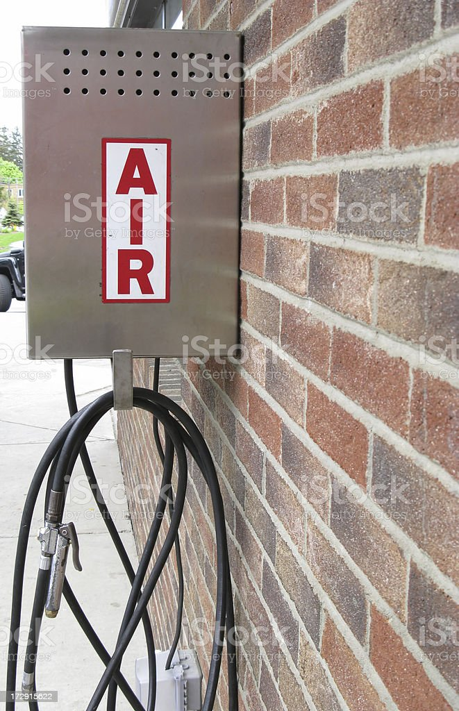 Air Compressor Gas Station Pump royalty-free stock photo