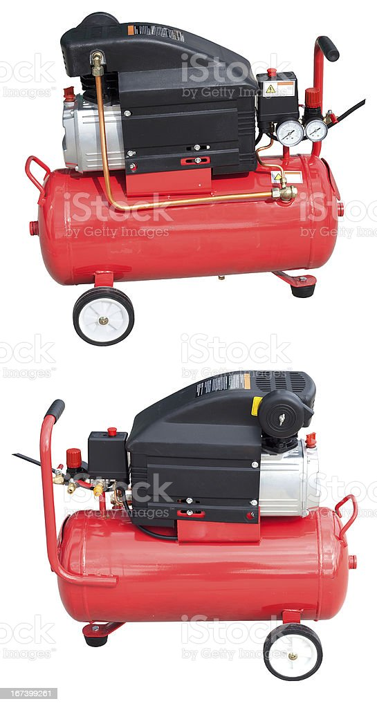 Air compressor with clipping path royalty-free stock photo