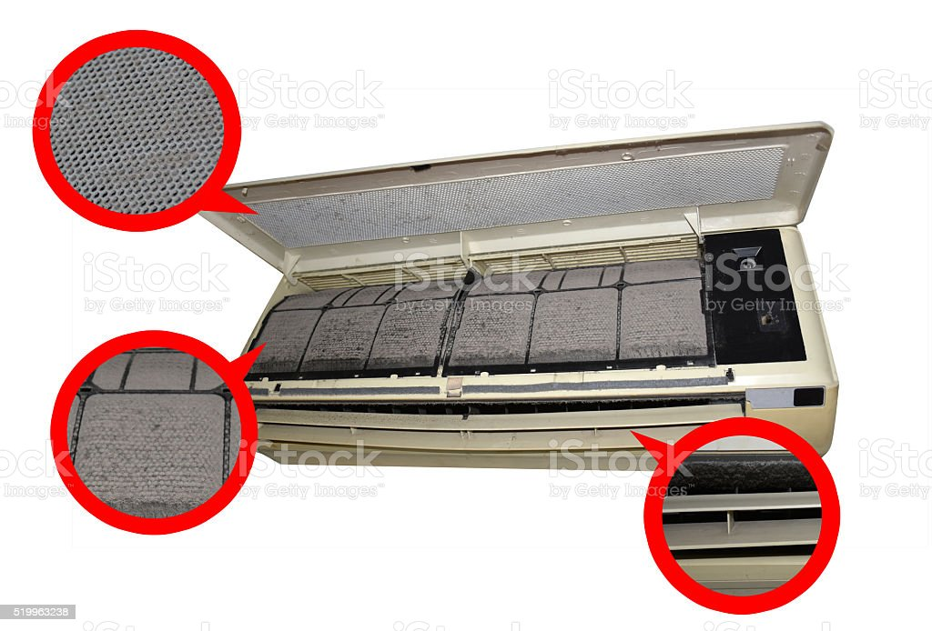 air condition dirty zone mark stock photo
