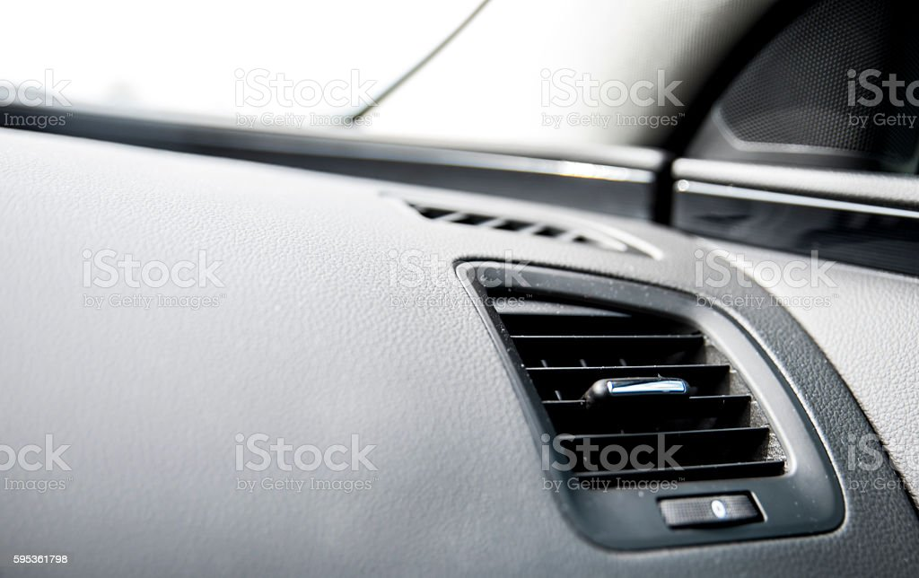 Air condition in the car stock photo