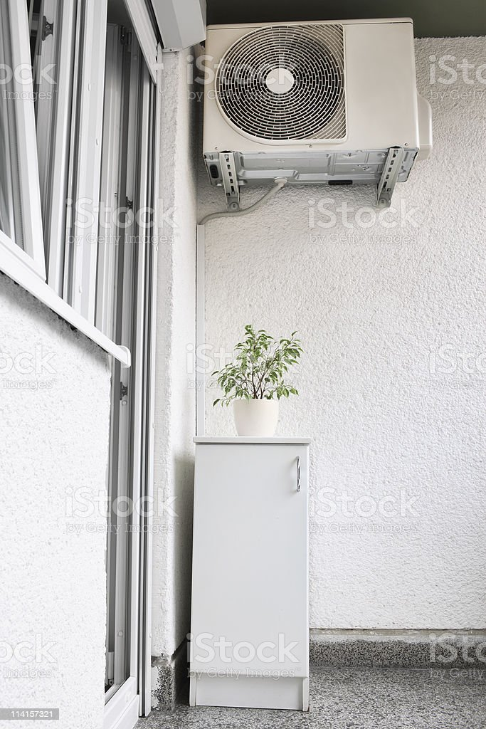 Air Condition On Balcony stock photo