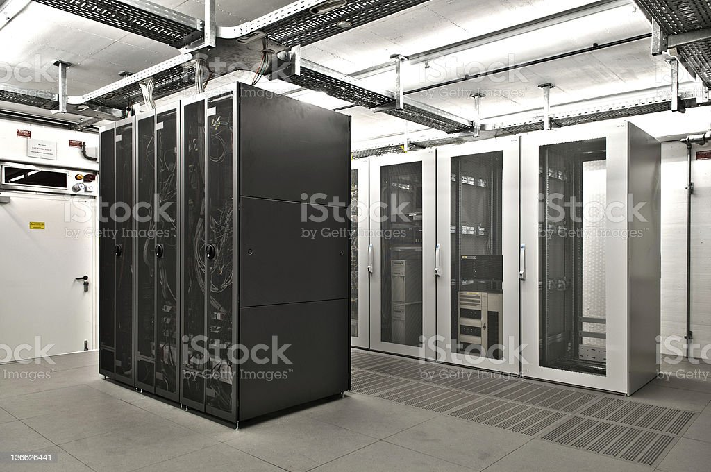 air conditioned it server room royalty-free stock photo