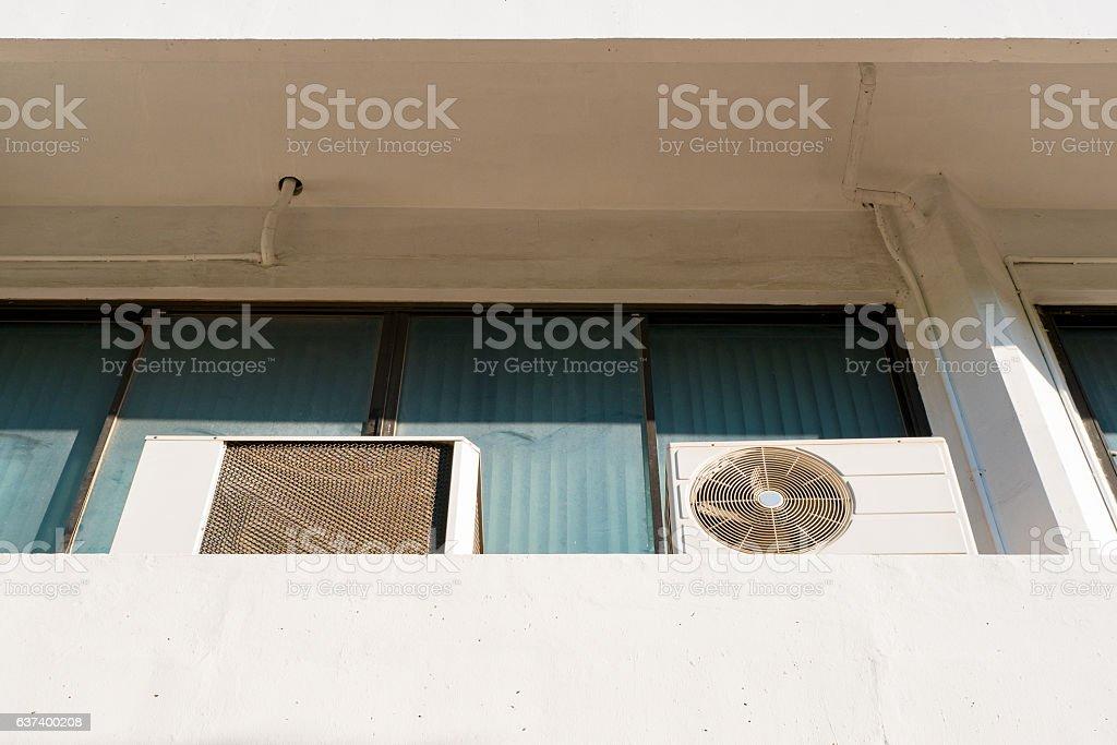 Air conditioner condensing units stock photo