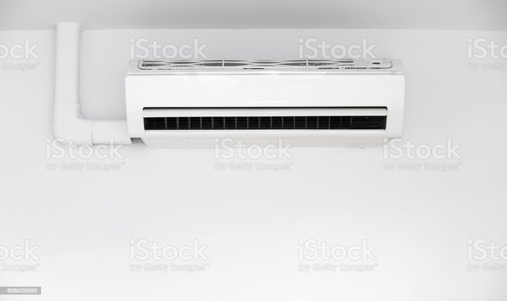 Air conditioner on wall background stock photo