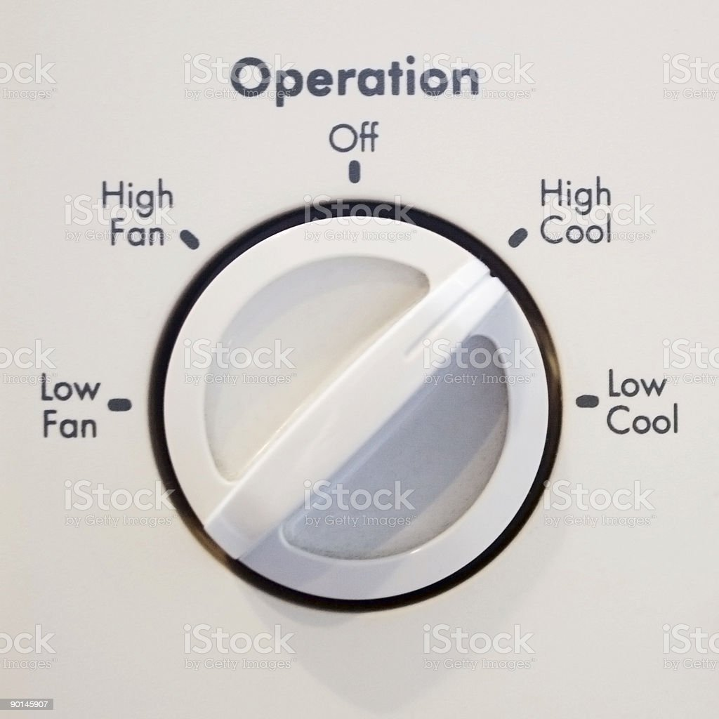 Air Conditioner Operator royalty-free stock photo