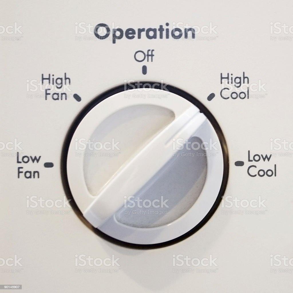 Air Conditioner Operator stock photo