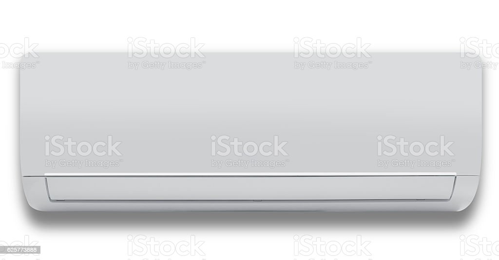 Air conditioner (isolated with clipping path over white background) stock photo