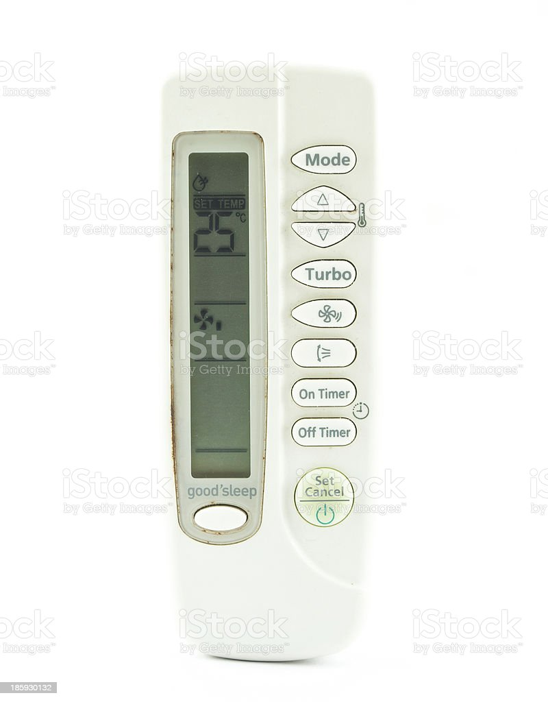 Air conditioner remote control royalty-free stock photo