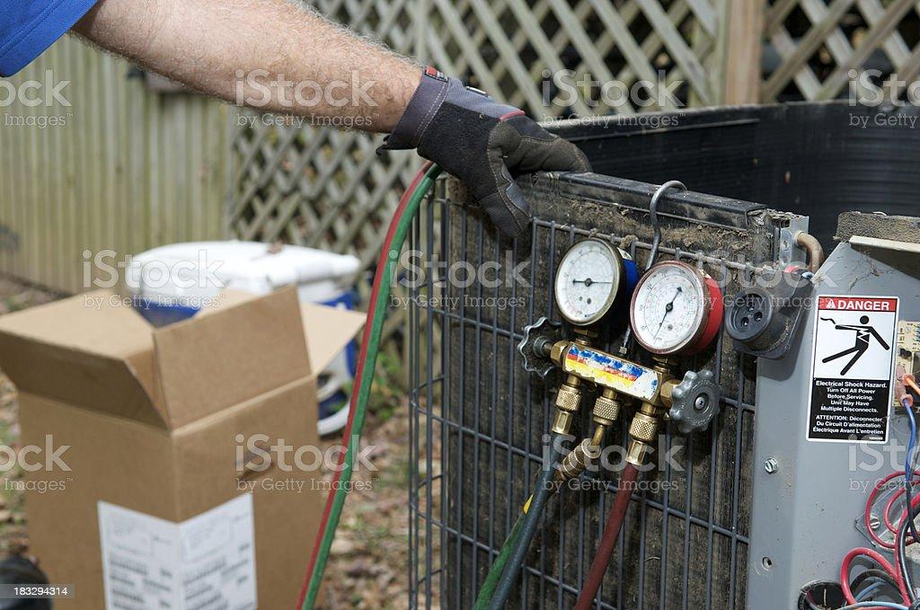 Air Conditioner Repair royalty-free stock photo