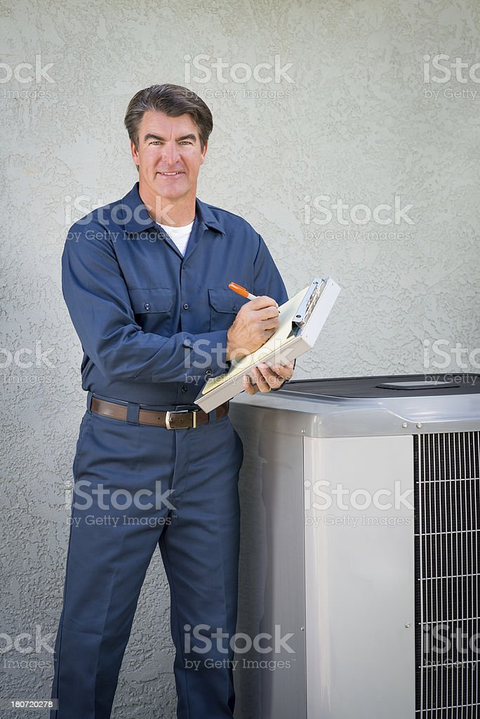 Air Conditioner Repairman royalty-free stock photo