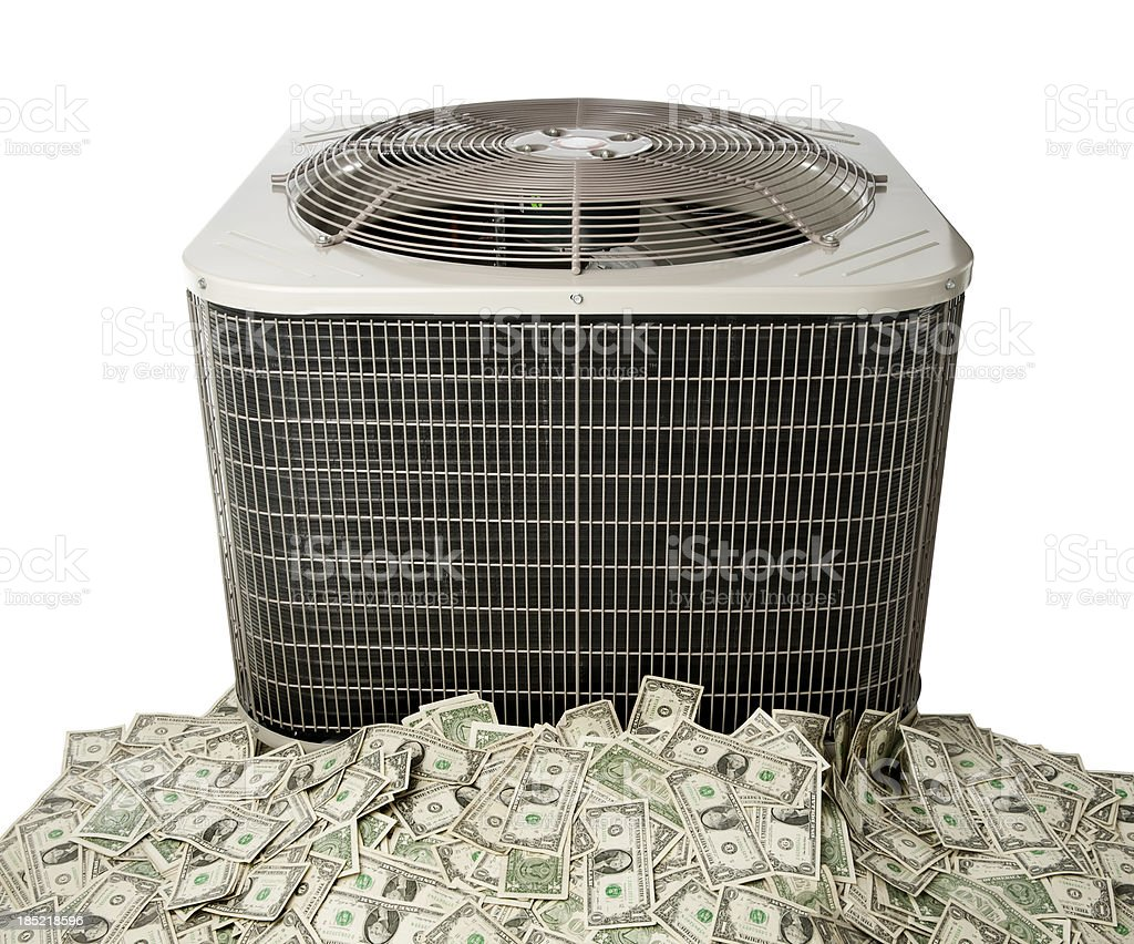 Air Conditioner Savings royalty-free stock photo