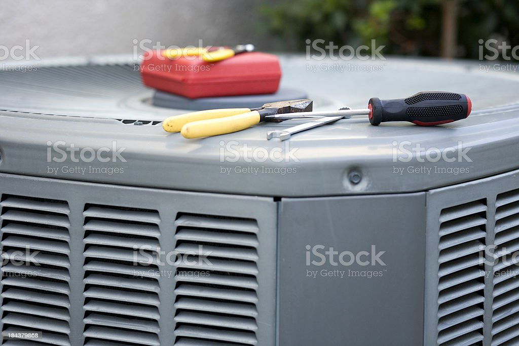 Air Conditioner Service stock photo