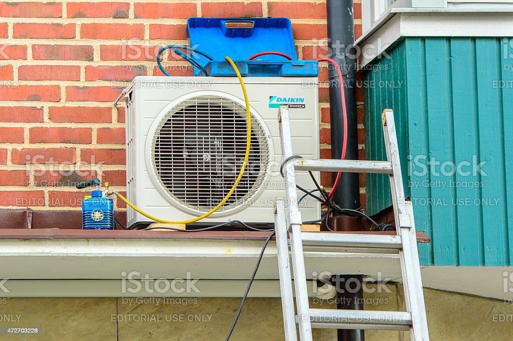 Air conditioner service stock photo