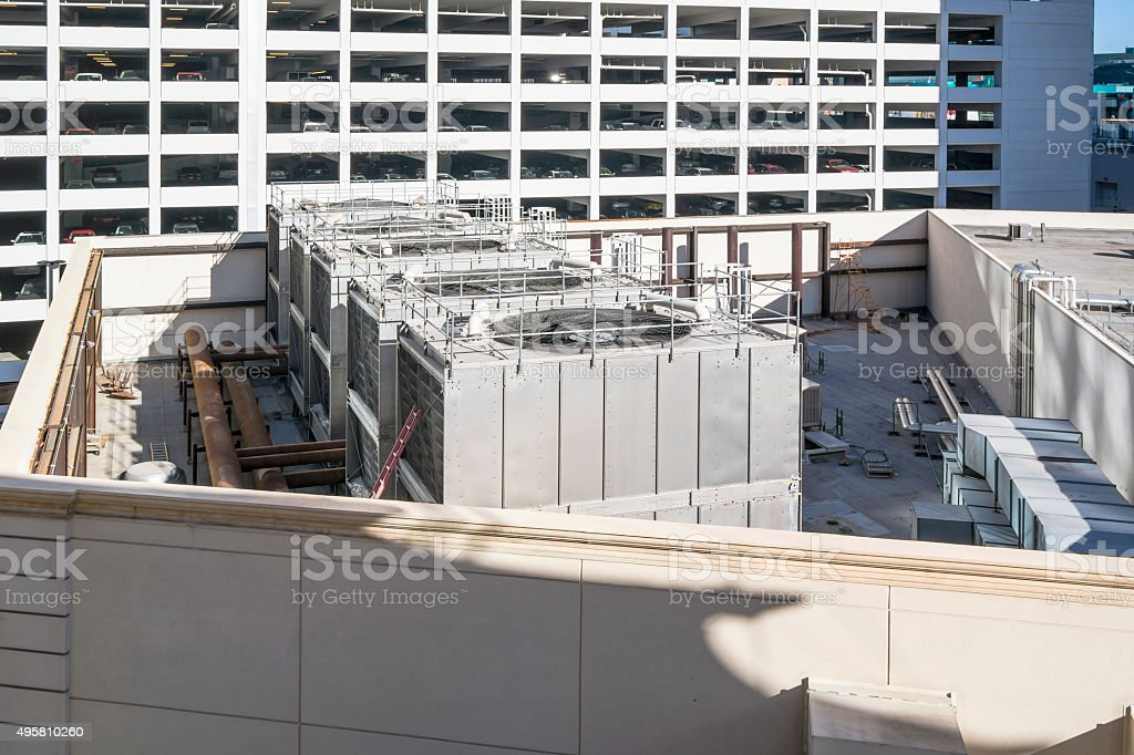 Air conditioner system stock photo