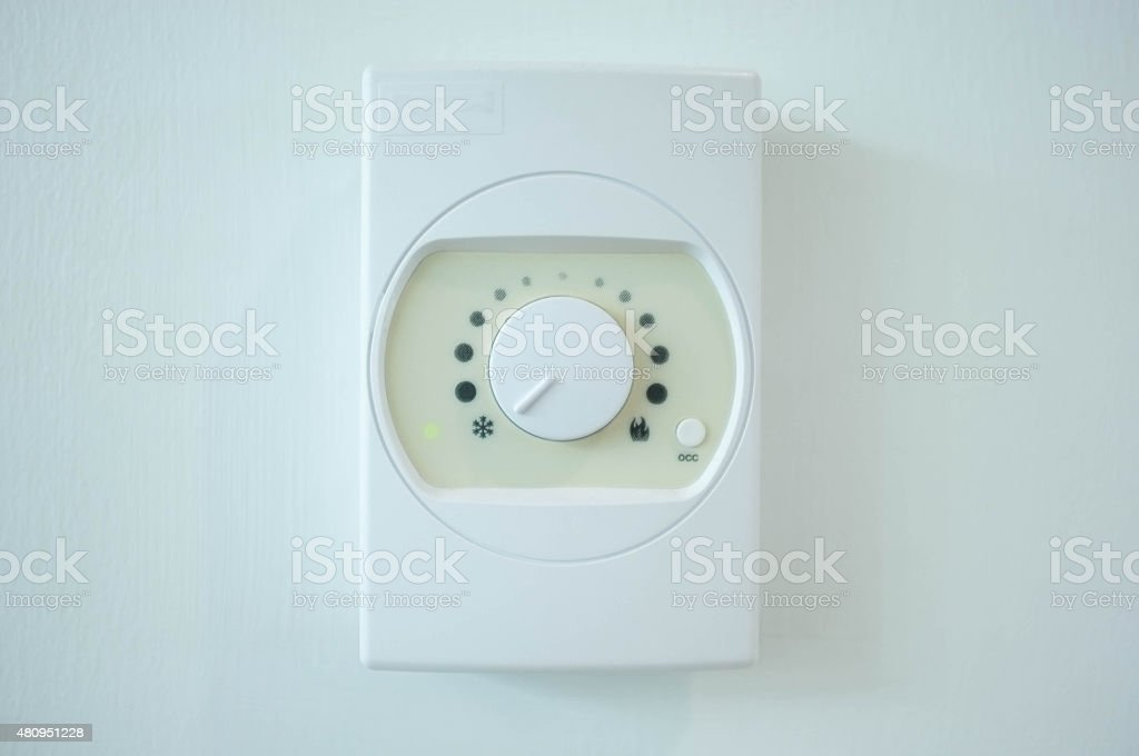 air conditioner temperature control switch stock photo