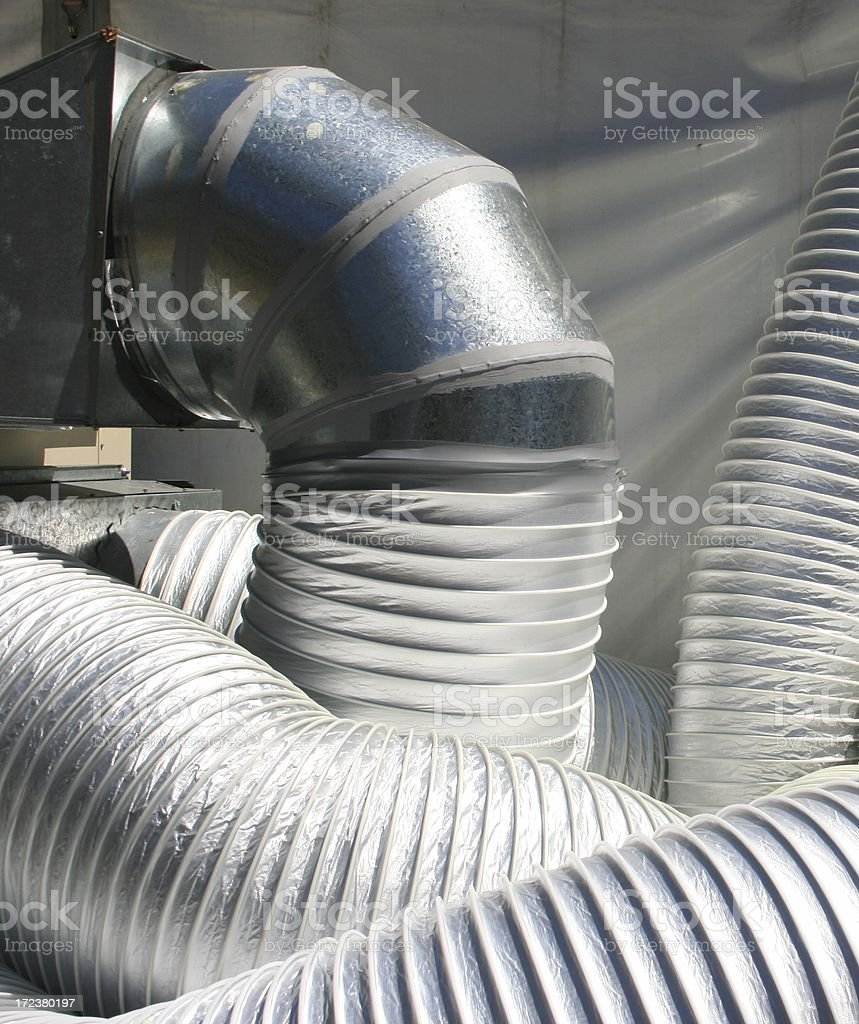 Air Conditioner Tube stock photo