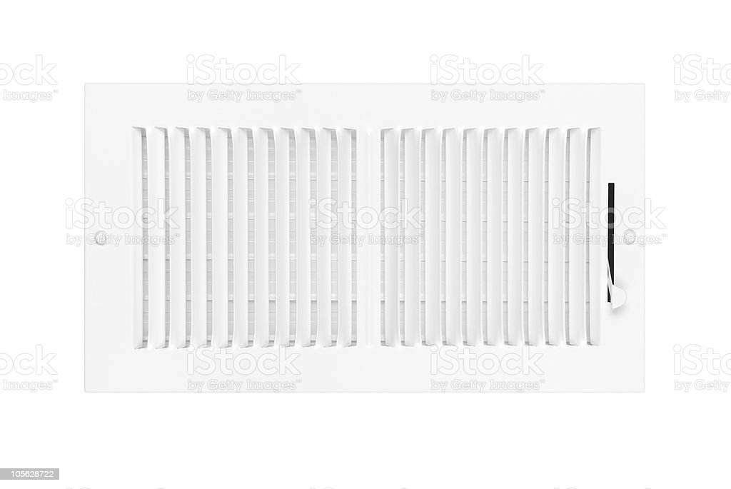 Air conditioning and heating vent on white royalty-free stock photo