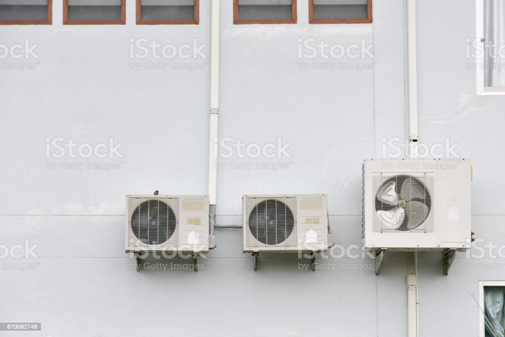 Air Conditioning in the building stock photo