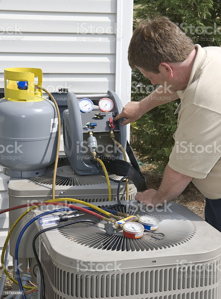 Air Conditioning Repair royalty-free stock photo