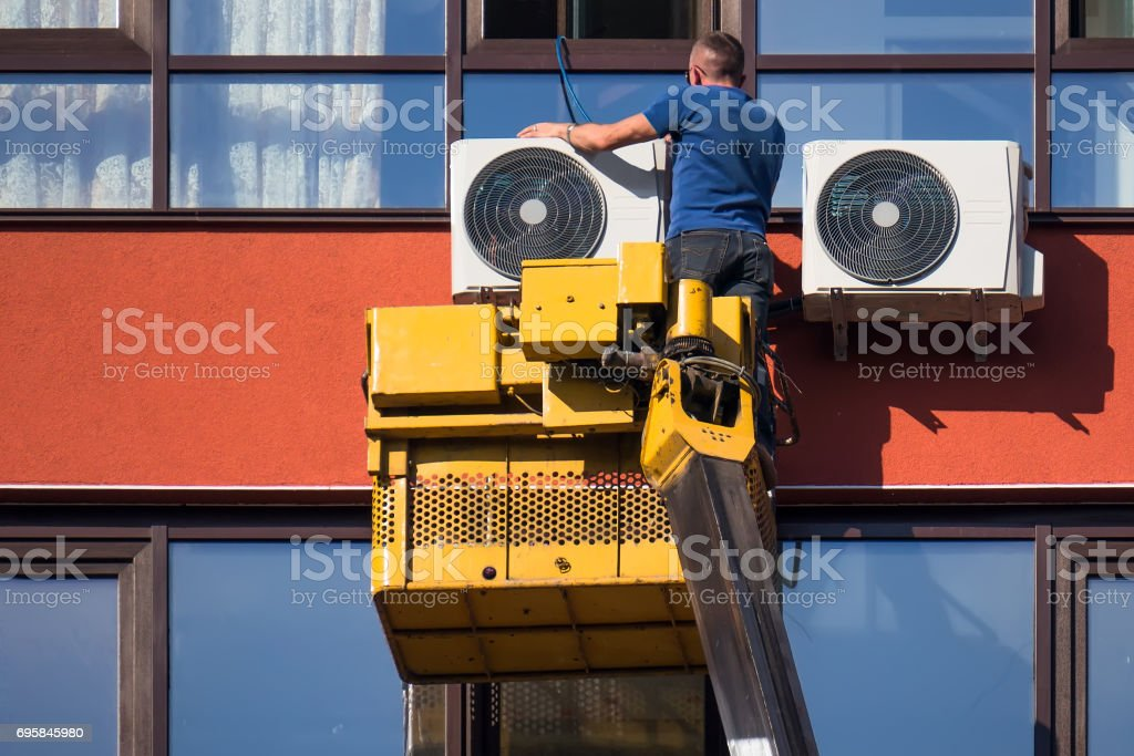 Air Conditioning Repair stock photo