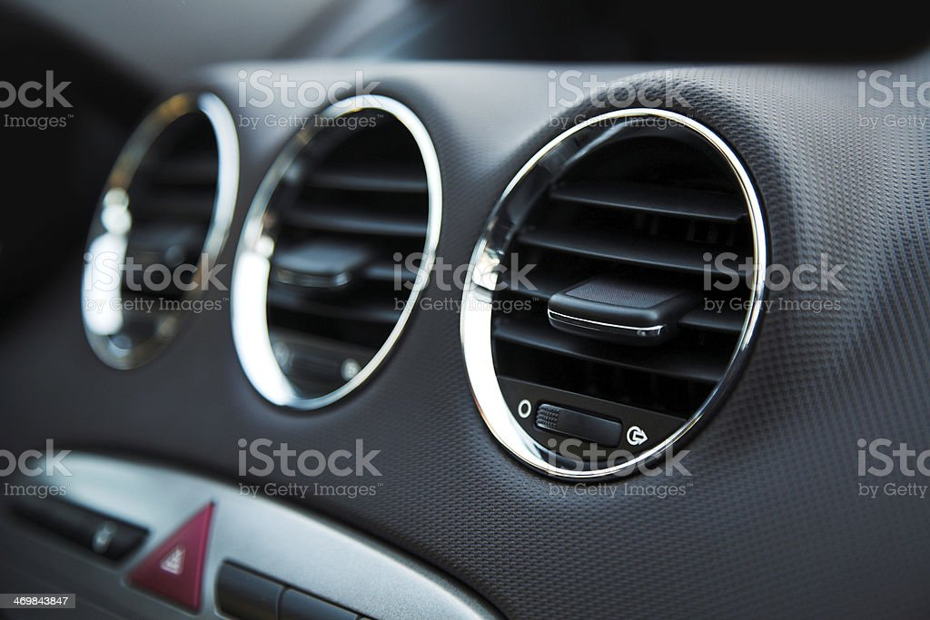 Air conditioning system in a modern car stock photo