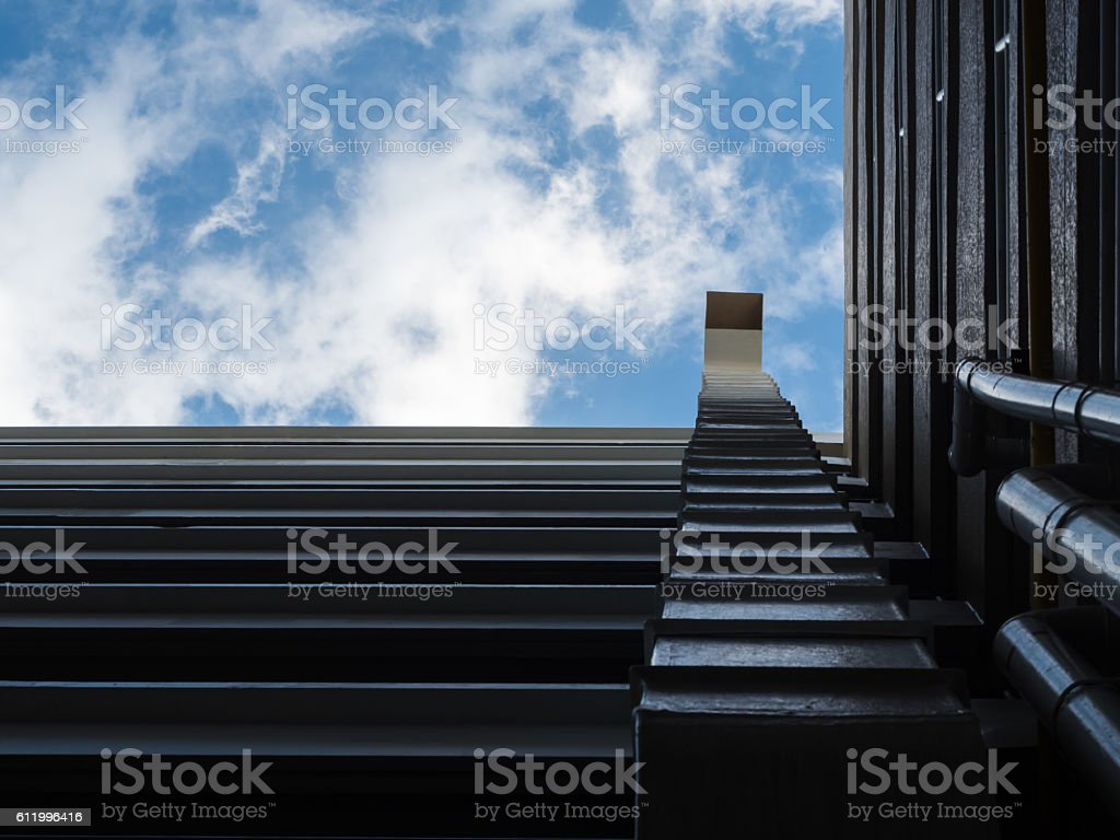 Air duct and ventilation system stock photo