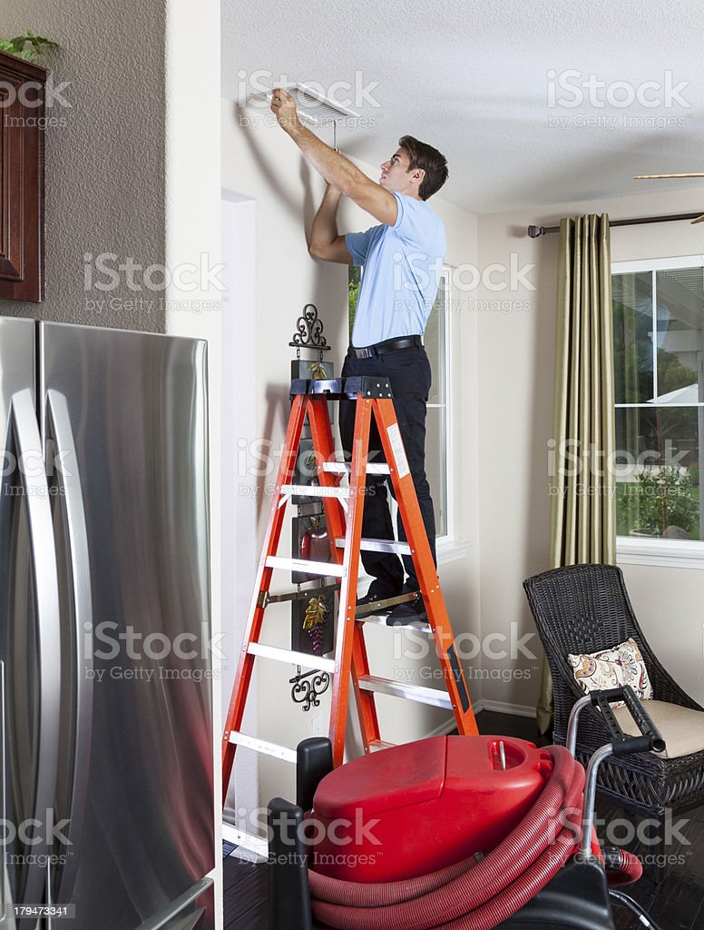 Air Duct Cleaning royalty-free stock photo