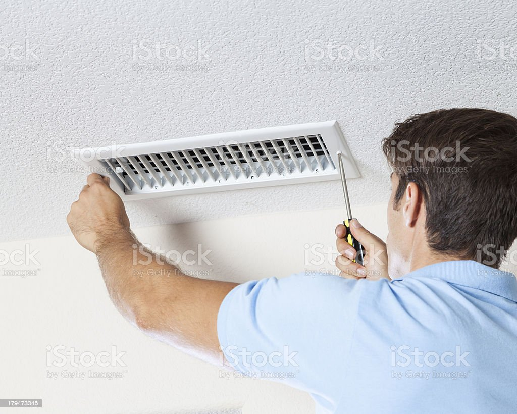 Air Duct Cleaning stock photo