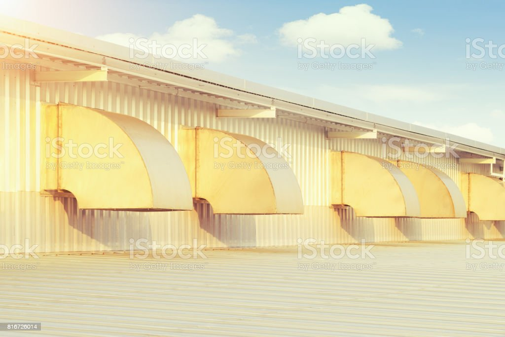 Air Duct Hood stock photo