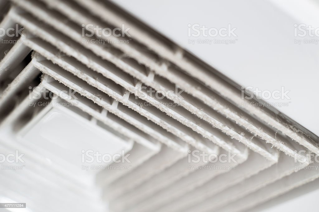 Air Duct with dust. stock photo