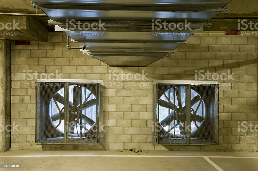 Air Ducts and Ventilation Fans royalty-free stock photo