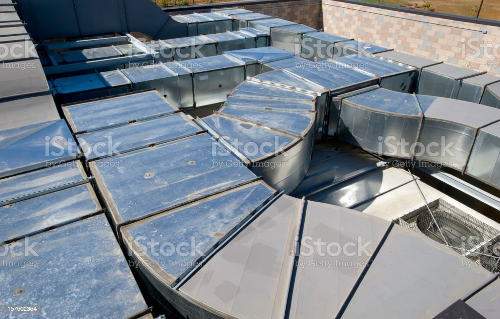Air ducts for HVAC royalty-free stock photo