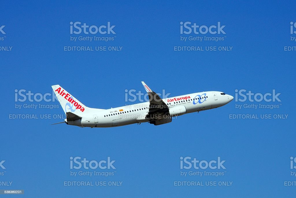 Air Europa Boeing 737-800. stock photo