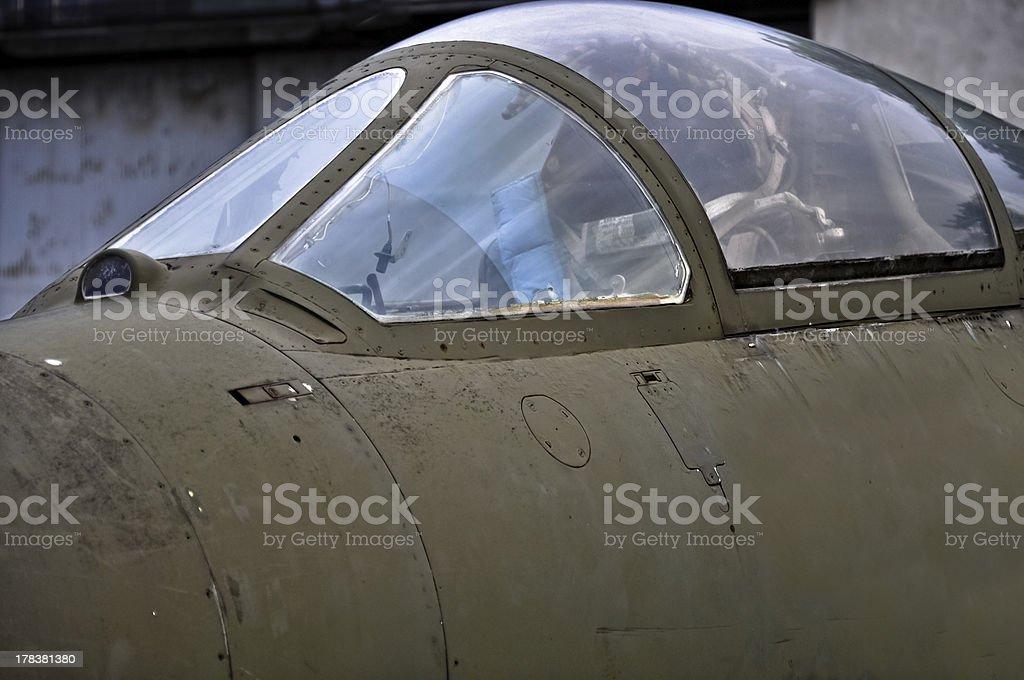 Air fighter pilot Kabine Lizenzfreies stock-foto