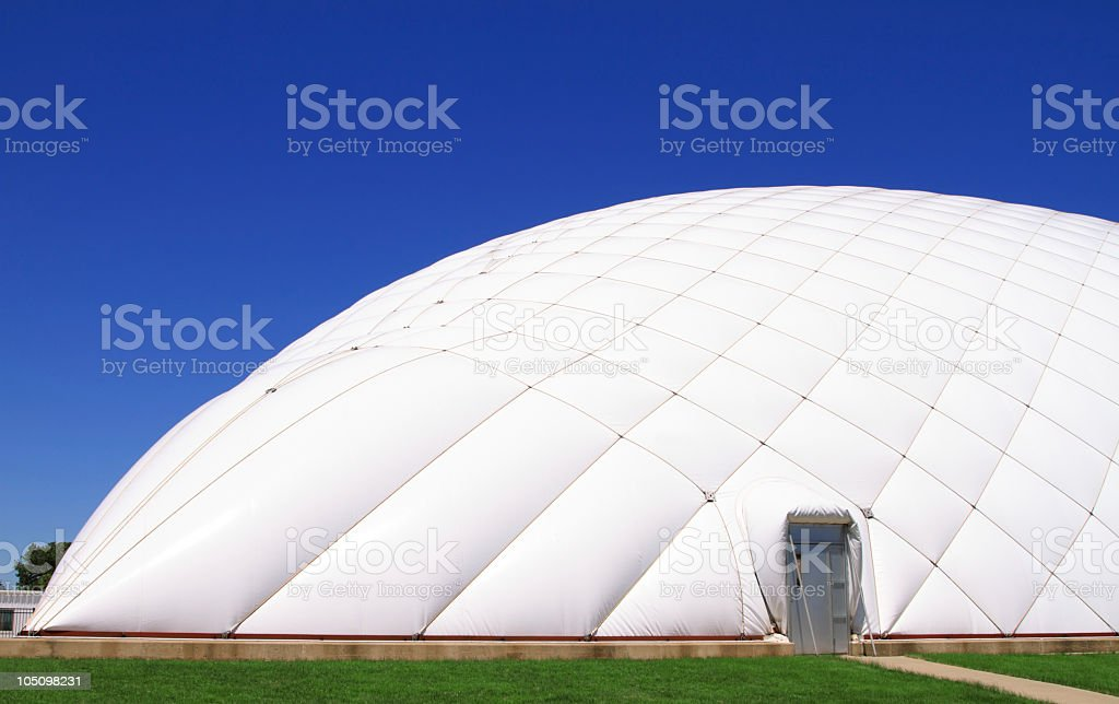 Air Filled Dome Building stock photo