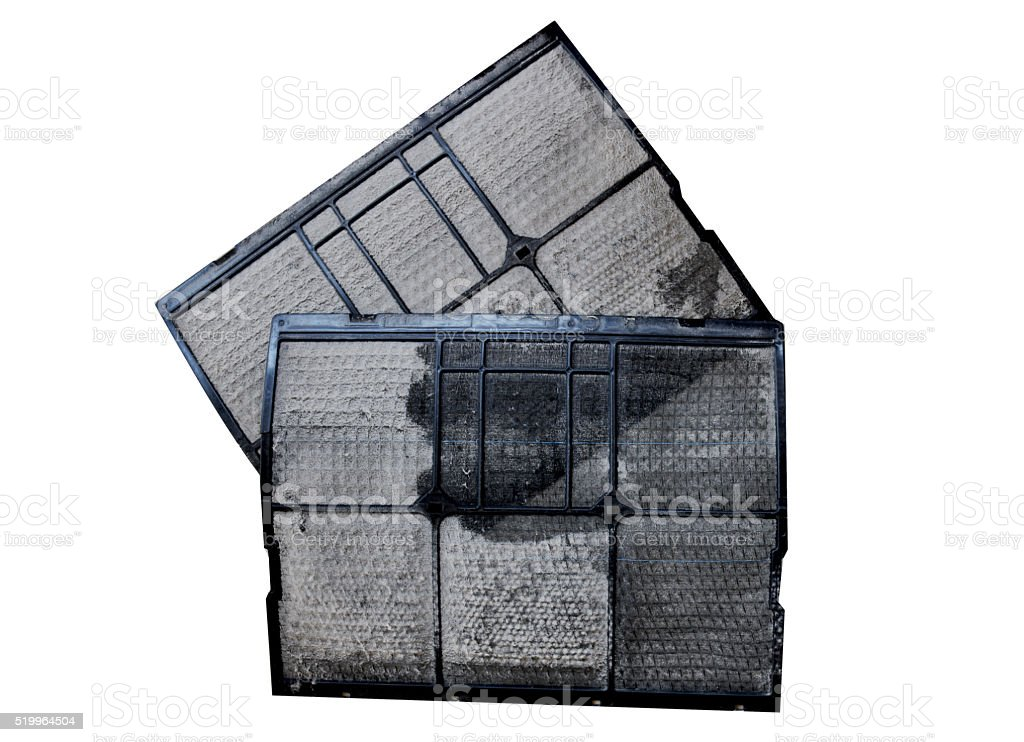 air filter dust dirty stock photo