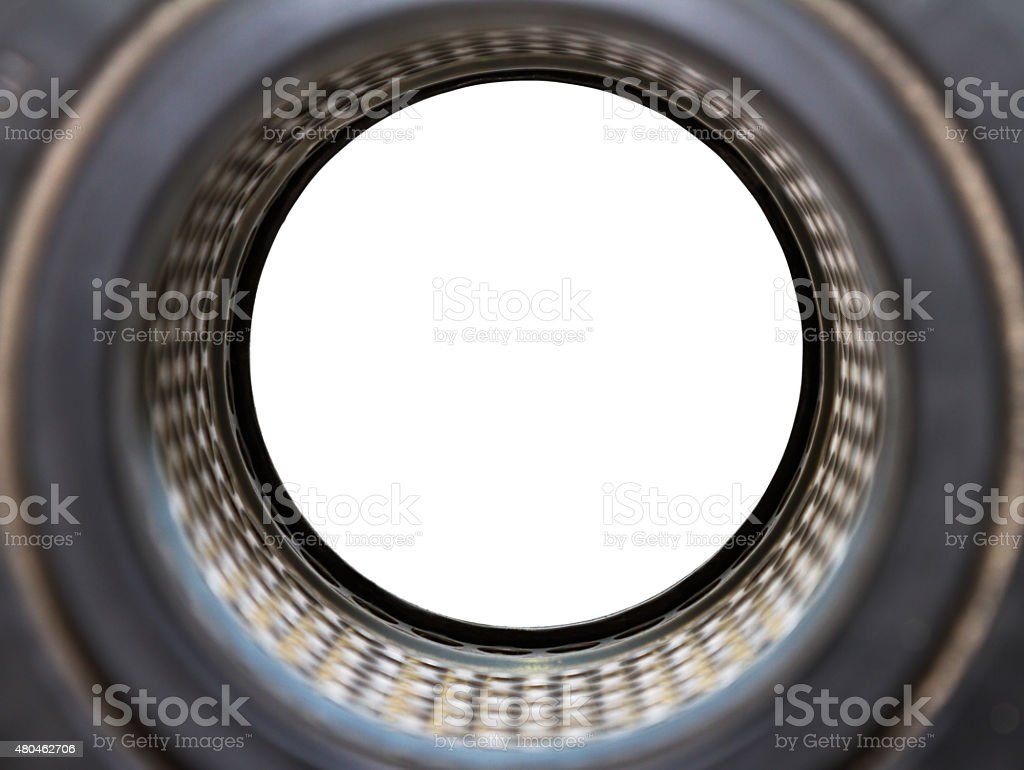 Air filters for use industrial and car on white isolate. stock photo