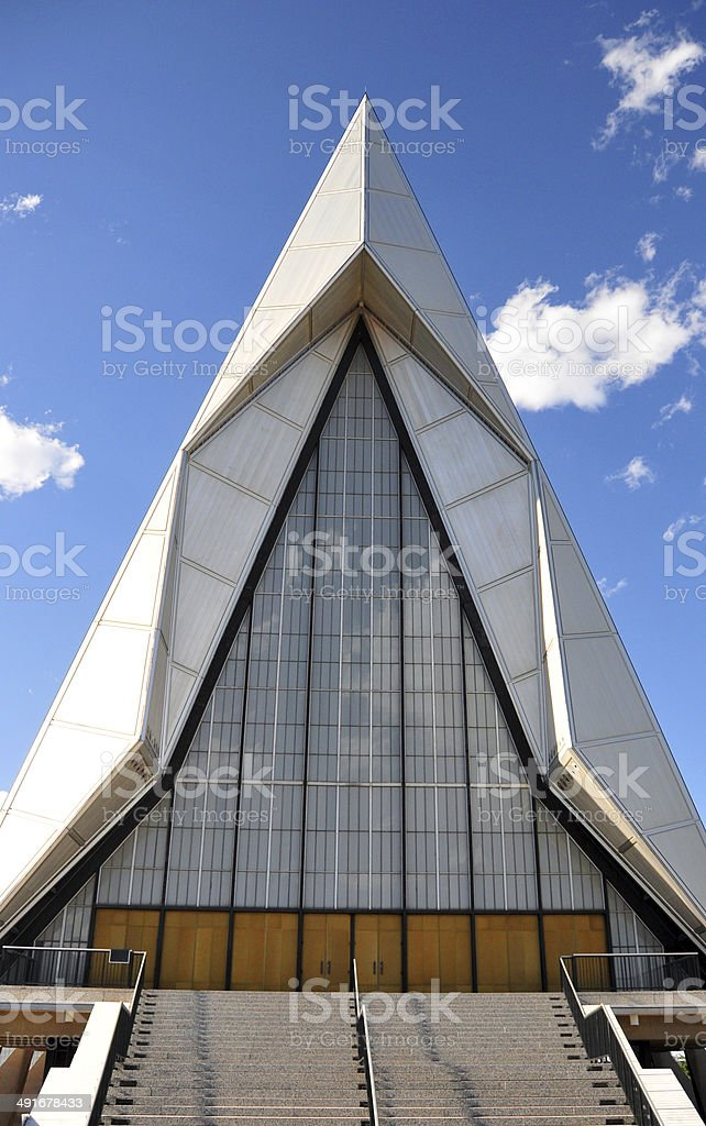 Air Force Academy Chapel, Colorado Springs royalty-free stock photo