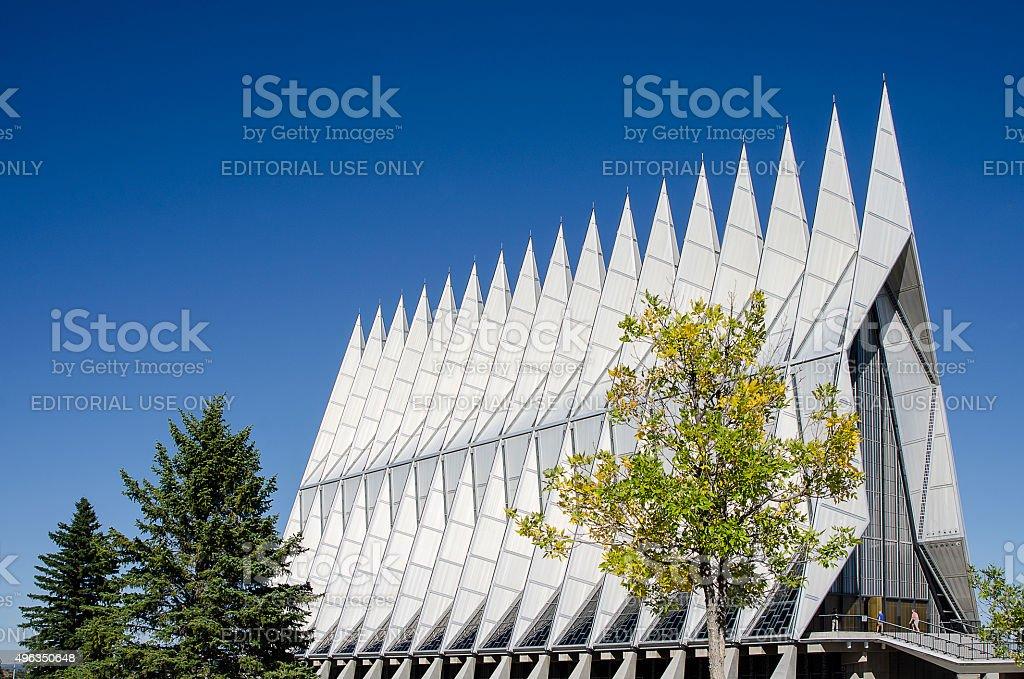 Air Force Academy Chapel, Colorado Springs stock photo